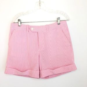 Ralph Lauren Golf Pink Seersucker Golf Short 6